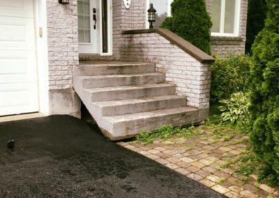 Avant les rénovations de votre entrée de maison - Aménagement Paysagement Goyer - Rive-Sud
