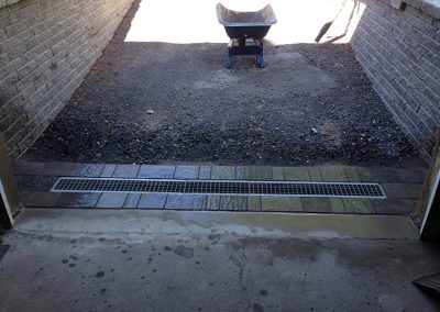 Drainage entrer de garage - Aménagement Paysager Goyer - Rive-Sud