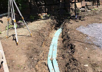 Installation de drains - Aménagement Paysager Goyer - Rive-Sud